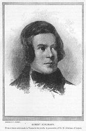 A youthful Robert Schumann (Source: Wikimedia)