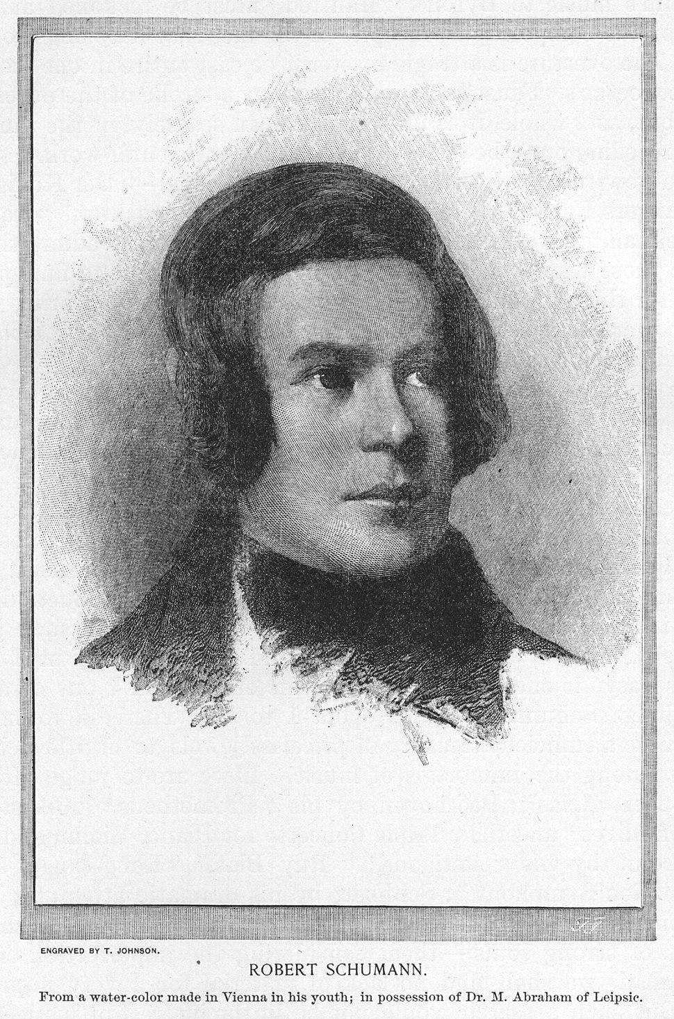 Robert Schumann in youth
