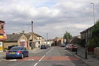 Roberttown village in United Kingdom