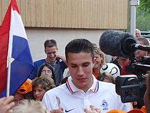 L'attaccante Robin van Persie, miglior marcatore di sempre nella nazionale olandese.