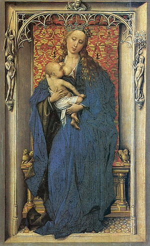 Virgin and Child Enthroned - Van der Weyden, The Madonna Standing, c. 1430–32, Kunsthistorisches Museum, Vienna