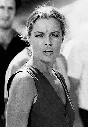 Romy Schneider - Schneider during the filming of La califfa (1970)