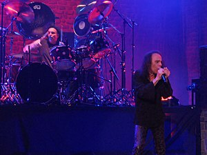 Heaven and Hell 2007 Tour - Image: Ronnie James Dio HAH Katowice and Vinny Appice