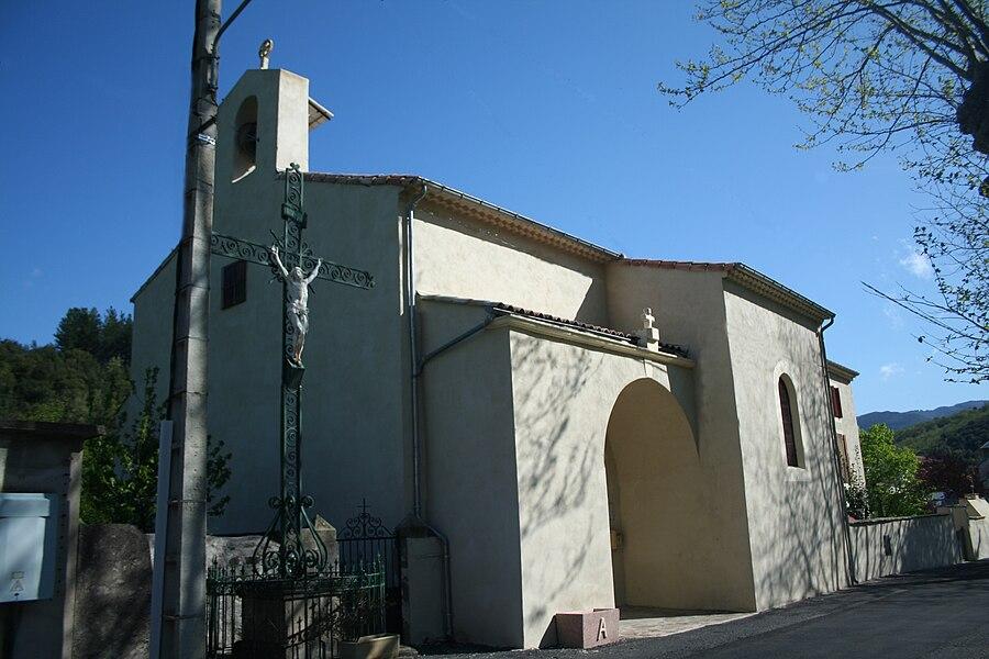 Rosis (Hérault)) - église Saint-Charles d'Andabre.