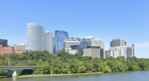 A view of Arlington's Rosslyn neighborhood from Theodore Roosevelt Bridge