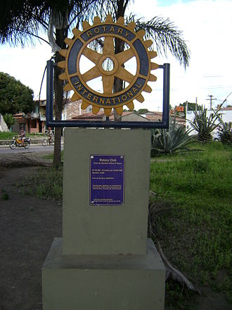 Rotary International - Rotary monument in Feira de Santana, Brazil.