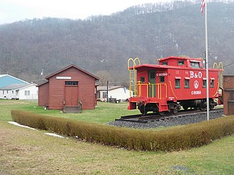 Rowlesburg, West Virginia - The former Baltimore and Ohio Railroad and Amtrak station in March 2017.
