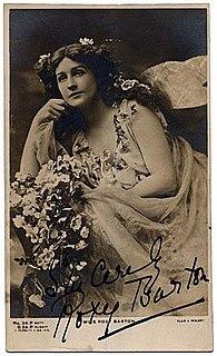 Roxy Barton Australian-born actress who found success in London