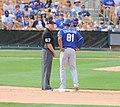 Royals Alfredo Escalera and Umpires Mike Everritt.jpg