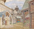 Russian village by I.Bilibin (1930, priv.coll).jpg