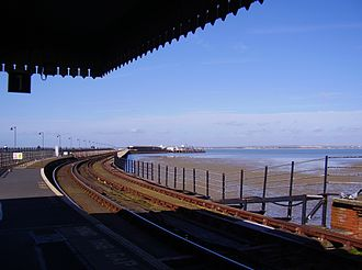 Ryde Pier - View along the pier from Ryde Esplanade station