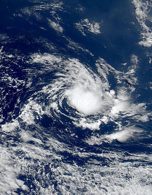 South Atlantic tropical cyclone - MODIS visible satellite image of a possible February 2006 tropical storm