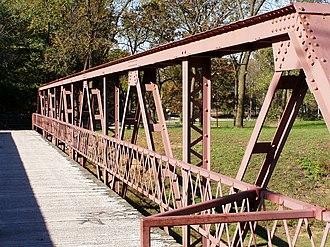 Starke County Bridge No. 39 - Image: SCB39 Bridge 39 Trusses PA090098
