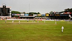 A view of the playing area of the Sinhalese Sports Club Ground in Colombo, Sri Lanka