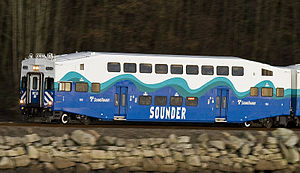 Sounder commuter rail - Image: SDRX105