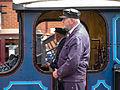 "SECR ""P"" Class no. 323 ""Bluebell"" running around its train at Sheffield Park (9131184984).jpg"