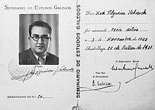 SEG, Xosé Filgueira Valverde, 3 de novembro do 1923, 28 de outono de 1931.jpg