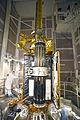 SMAP in Delta II service structure at VAFB SLC-2 (KSC-2015-1160).jpg