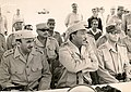Saad el-Shazly مناورة 23 يوليو 1971 مع الرئيس السادات و وزير الدفاع صادق.jpg