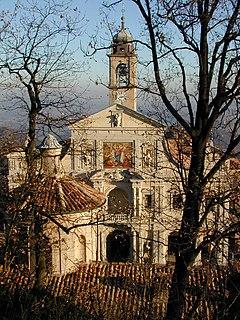 Sacro Monte di Crea church building in Serralunga di Crea, Italy
