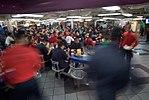 Sailors take a lunch break aboard USS Ronald Reagan. (27855001253).jpg