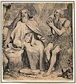 Saint Antony the Great and Saint Paul the Hermit. Engraving Wellcome V0033162.jpg