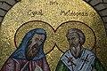 Saint Mary Byzantine Catholic Church (Marblehead, Ohio) - mosaic of Sts. Cyril and Methodius, detail.jpg