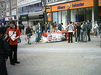 Socialist Worker - The Socialist Worker being sold on Briggate in Leeds in 2009