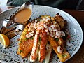 Salmon Steak garlic-roasted shrimps, lobster Duus Keflarvik.jpg