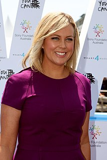Samantha Armytage Australian journalist and television news presenter