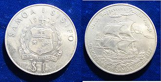 Jacob Roggeveen - Samoan Commemorative Coin 250 Years Discovery of Samoa by the Dutch Captain Jacob Roggeveen
