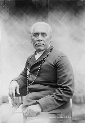 Samoa - Mata'afa Iosefo (1832–1912) paramount chief and rival for the kingship of Samoa