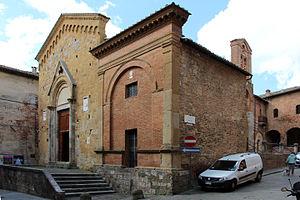 San Pietro alla Magione, Siena - Image: San pietro alla magine, ext. 03