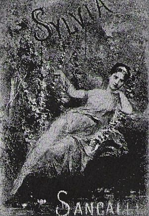 Rita Sangalli - Rita Sangalli in the lead role of Sylvia by Léo Delibes at the 1876 premiere.