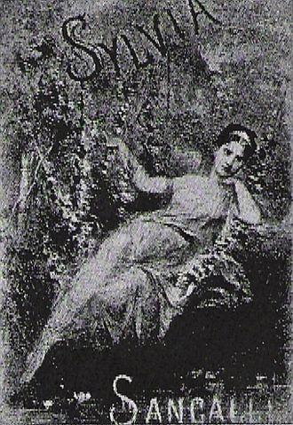 Rita Sangalli - Rita Sangalli in the lead role of Sylvia by Léo Delibes at the 1876 premiere.