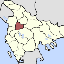 Location of Sanjak of Dibra