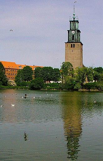 Østre Anlæg (Aalborg) - St. Mark's Church overlooking the park