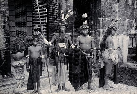 Asia Old Taiwan native Dayak rattan Hat