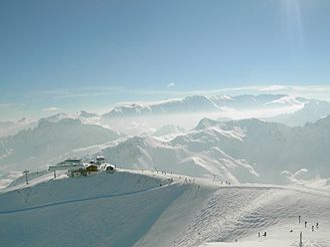 Courchevel - View from Saulire peak, 2700 m.