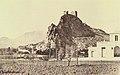 Sax. Estació i Castell, any 1858 J.Laurent.jpg