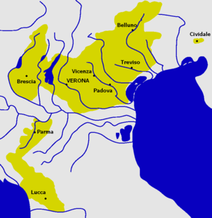 Scaliger - Territories held by the Scaligeri in 1336.