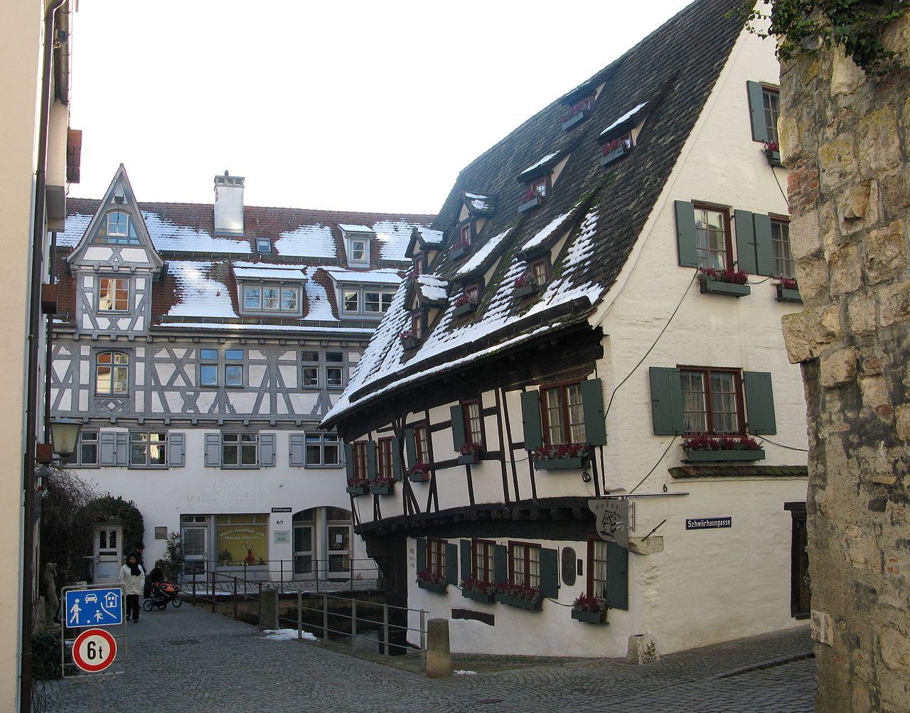 File Schiefes Haus und Ulmer Münz Ulm Fischerviertel