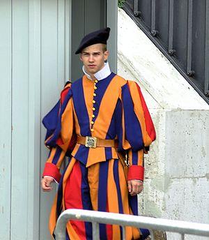 Deutsch: Ein Schweizergardist im Vatikan, 2009.