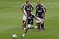 Scott Sinclair Swansea City warm up vs Arsenal 2011.jpg