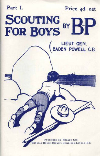 1908 in literature - Cover of Robert Baden-Powell's Scouting for Boys, 1st part