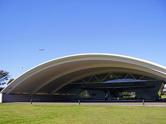 Southern Cross (aircraft) - The Kingsford Smith Memorial near Brisbane Airport, housing the Southern Cross