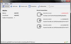 """250px Screenshot of Bitcoin qt 0.5.2 - بیت کوین چیست؟ """"همه چیز درباره بیت کوین"""" +آموزش"""