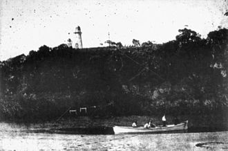 Sea Hill Light - A 1908 photo of Sea Hill, showing both lighthouses side by side