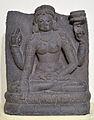 Seated Chunda - Basalt - Pala Period Circa 9th Century AD - Bihar - National Museum - New Delhi - Indian Buddhist Art - Exhibition - Indian Museum - Kolkata 2012-12-21 2338.JPG