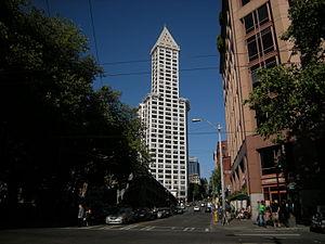 Yesler Way - Image: Seattle Pioneer Square, looking east on Yesler Way 01